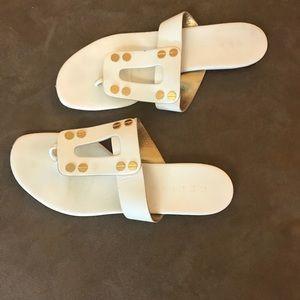 Celine leather sandals size 8.5